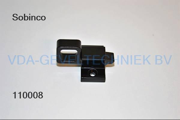 Knipslot 703 RAL9005 zwart (blokje)