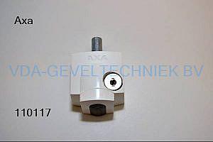 AXA oplegslot/cilinder wit 3012-20-98/8l