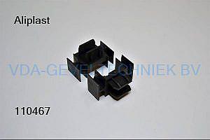 Aliplast 52.687  zwart kunststof