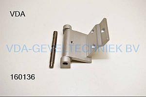 Aluminium scharnier t.b.v. Kommerling VK