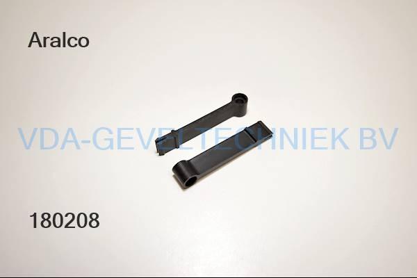 Aralco hendel 48mm zwart ventilatie/rooster