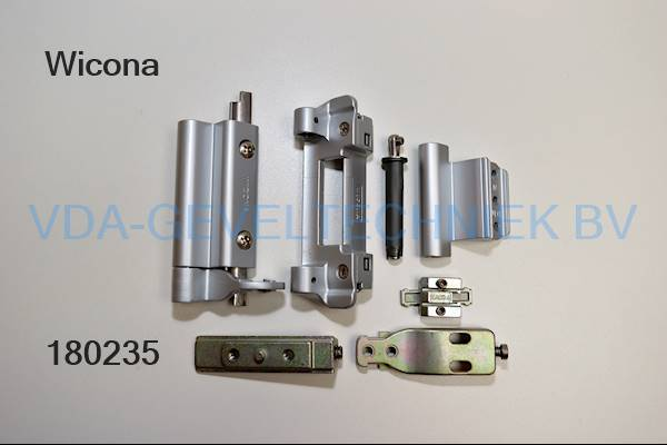Wicona alu scharnier set 6040003