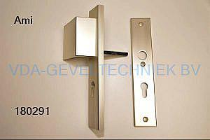 Ami deurkruk/duwer/deurgreep langschild pc72 (klink)
