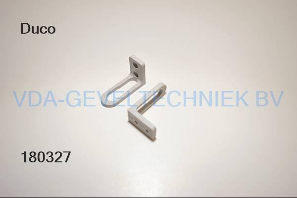 Duco stanggeleider grijs 45x28mm