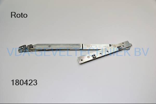 Roto alu schaararm (Schere arm) liggend Gr.1 rechts draaikiep 091306