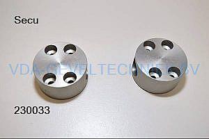Aluminium steun t.b.v. raambeveiliging
