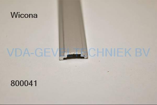 Wicona aluminium trengelstang/schuiflat 13.5-4.5mm10 1000mm