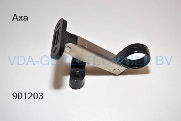 Axa raamuitzetter 80mm zwart/rvs Stainless
