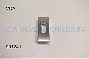Aluminiumafdekplaatje t.b.v. cilinder rozet