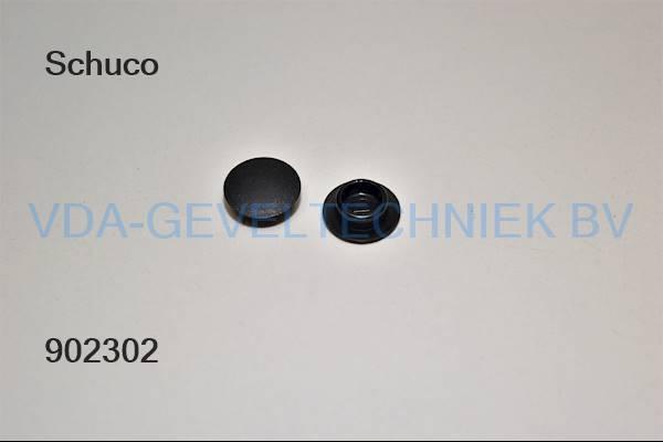 Schuco afdekdop zwart 207515