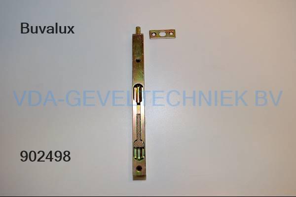 Buva rohrkanttriegel 411/200mm 17mm kantschuif/espagnolet.