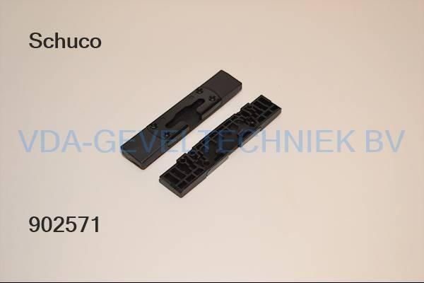 Schuco kiepsluitplaat 254810 zwart