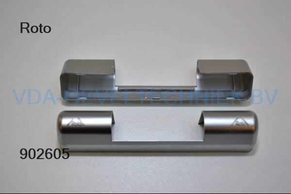 Roto afdekkap (Abdeckkappe) zilver bovenscharnier