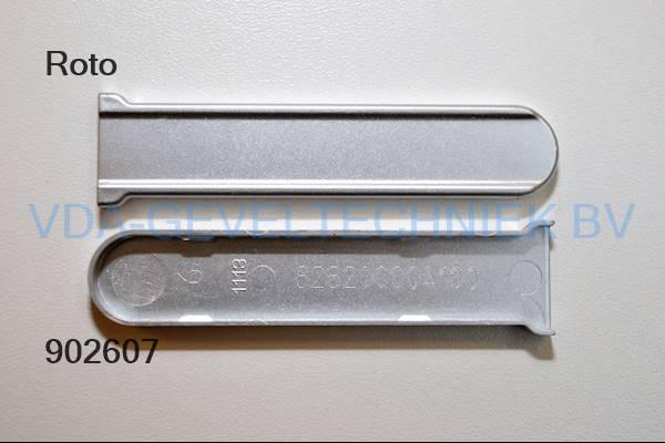 Roto afdekkap zilver onderscharnier (Ecklager)