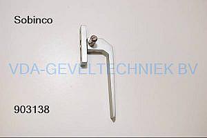 Metalchimex raamkruk/raamgreep rechts neushoogte 10mm