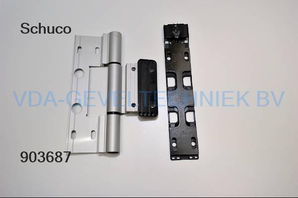 Schuco alu Rollen/klemscharnier R51