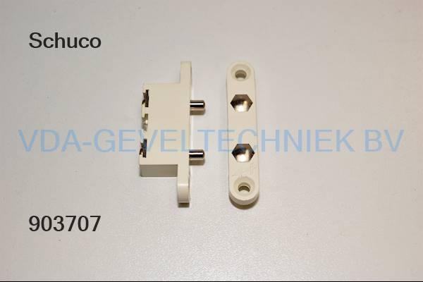 Schuco deur-contact-brug t.b.v. 2-vleugelige