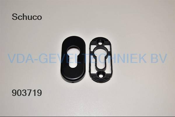 Schuco alu PZ-Rozet RAL9005