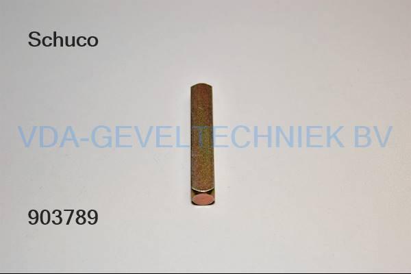 Schuco krukstift M10x60 MM