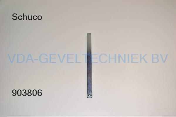 Schuco krukstift M10x155MM 238474