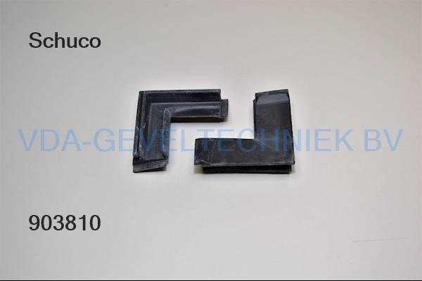 Schuco koppelstuk hoekrubber 224069-432-2