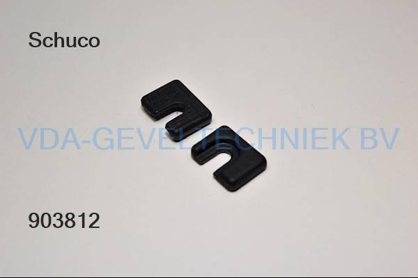 Schuco onderlegplaatje zwart 227533
