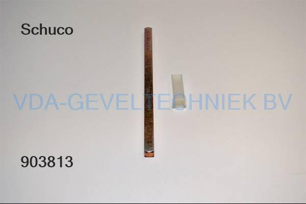 Schuco krukstift M8x150MM met