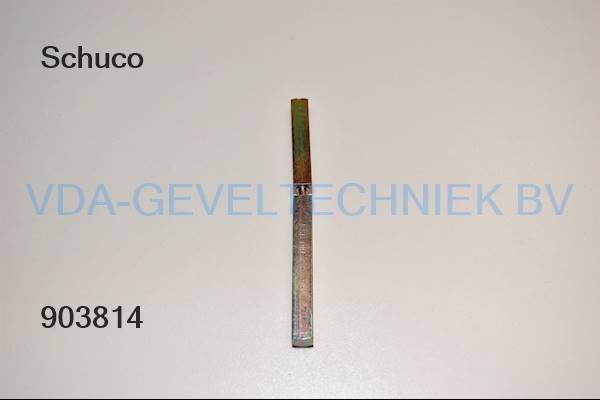 Schuco krukstift (gedeelde) M9x125MM