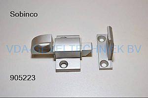 Knipslot+sluitstuk aluminium 15
