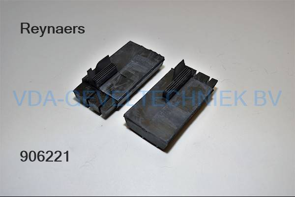 Reynaers 62.9372.04 Profielstuk zwart kunststof