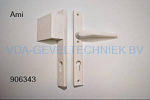 Ami deurkruk/duwer/deurgreep lanngschild BU/BI pc92