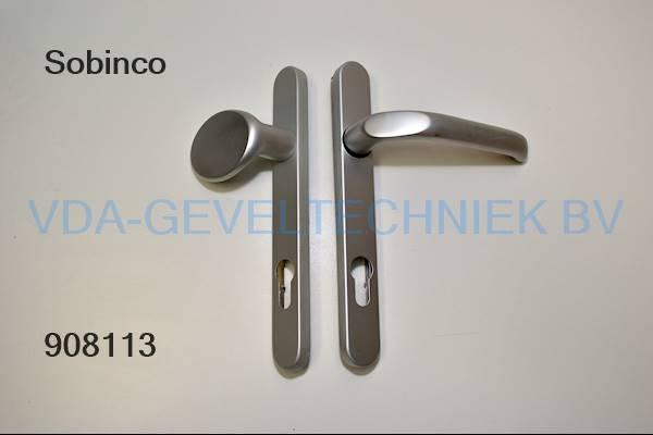 Sobinco deurkruk/deurduwer BI/BU langschild