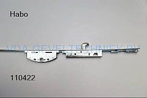 Habo espagnolet Type 2920 NEN5096 voorplaat 20 mm drn 33 met 3 haken krukhoogte H=400 lengte 1400mm
