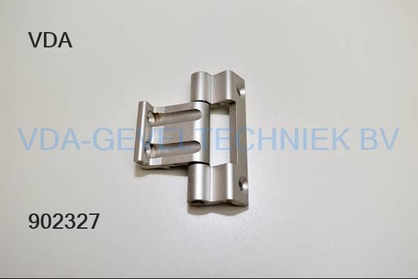 Aluminium scharnier 80mm
