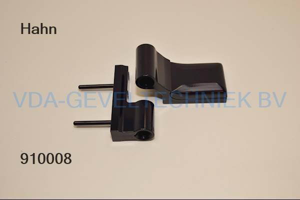 Dr Hahn 2-delig scharnier KT-B Rehau-SKG zwart glans K60490051