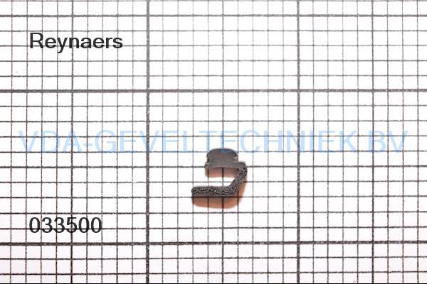 Rubber Type 335. Reynaers akoestische dichting. (Afdichting) (Gummi)