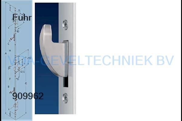 Fuhr 856 meerpuntssluiting 55/92/16/ 2170mm type 3 2x haak/2x rol