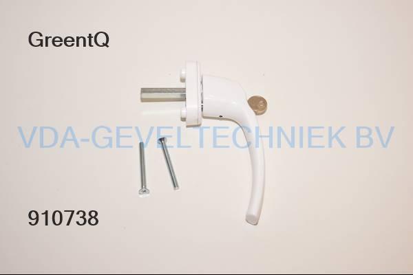 GreenteQ DK-raamkruk/greep FG31.S.AL 7X40 F1 incl. 2x M5x50 RAL9016